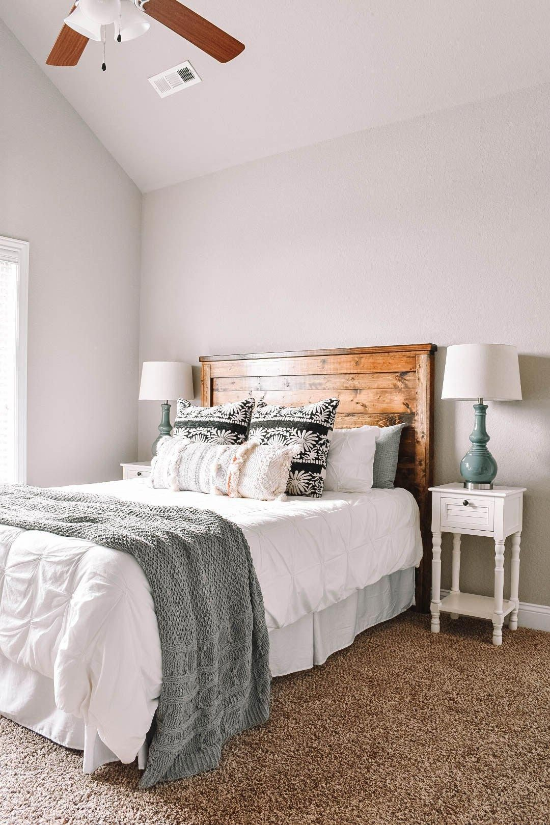 Home Office and Guest Bedroom Tour. #homeoffice #guestbedroom #bohostyle #girly #homeblog #homedecor #modernBedroom