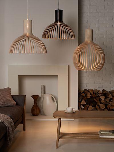 Buy Secto Octo Ceiling Light, Black | John Lewis | Living Room Lighting, Room Lights, Lamps Living Room