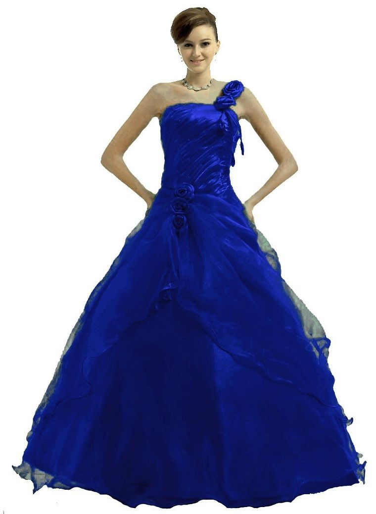 prom dress | Royal blue junior prom party princess prom gown dresses ...