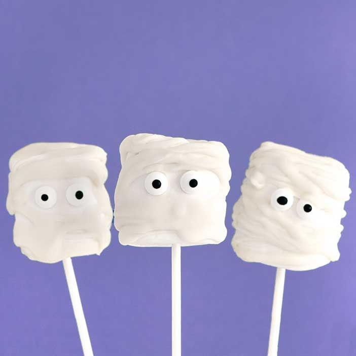 Halloween Baking Ideas   Marshmallow Mummy Pops