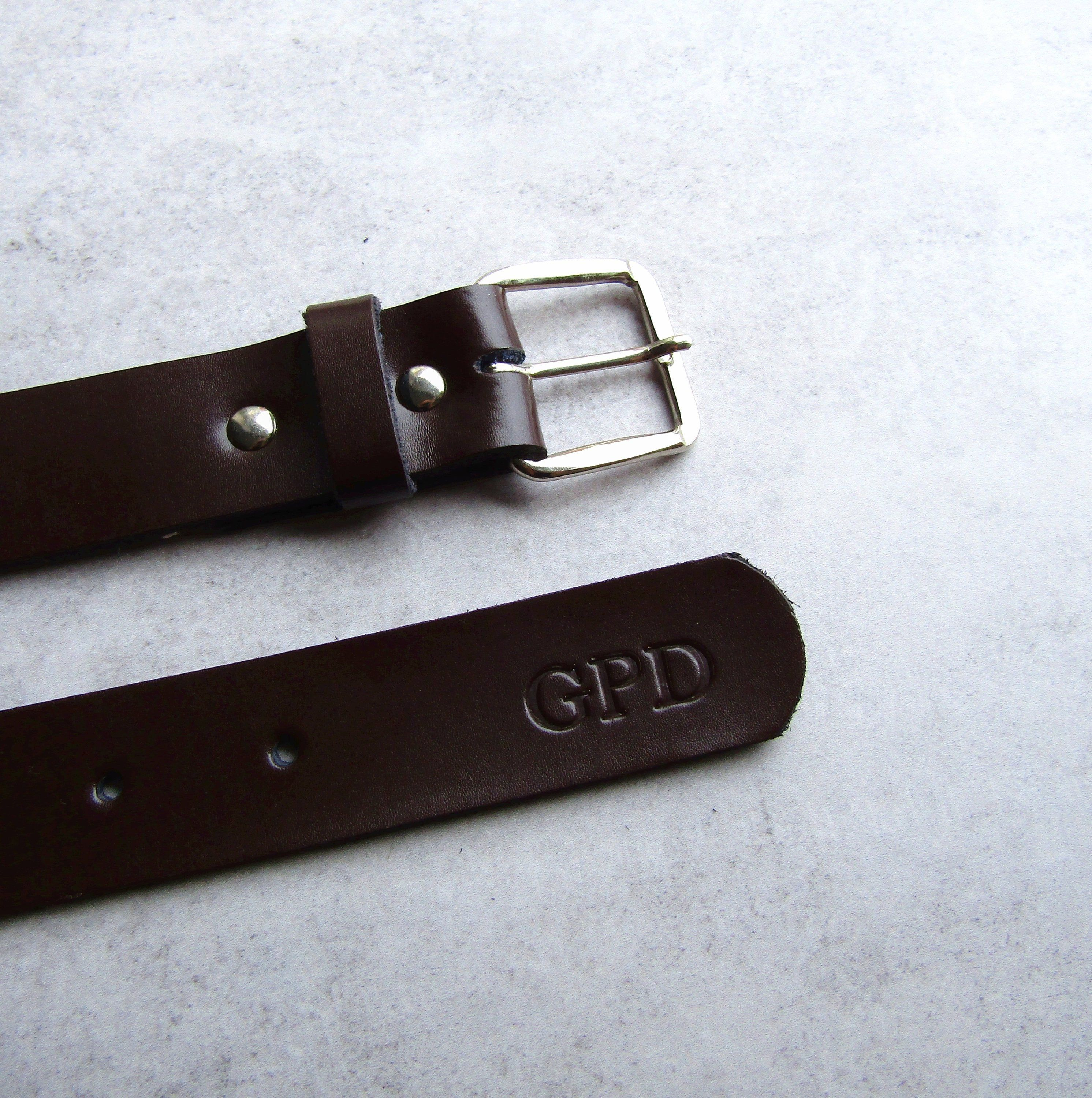 Handmade Personalised Men's Leather Belt Gifts For Him