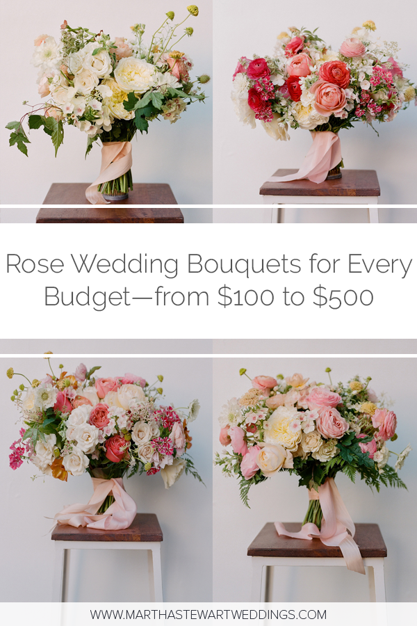 Rose Wedding Bouquets For Every Budget From 100 To 500 With Images Rose Wedding Bouquet Wedding Bouquets Wedding Bouquet Prices