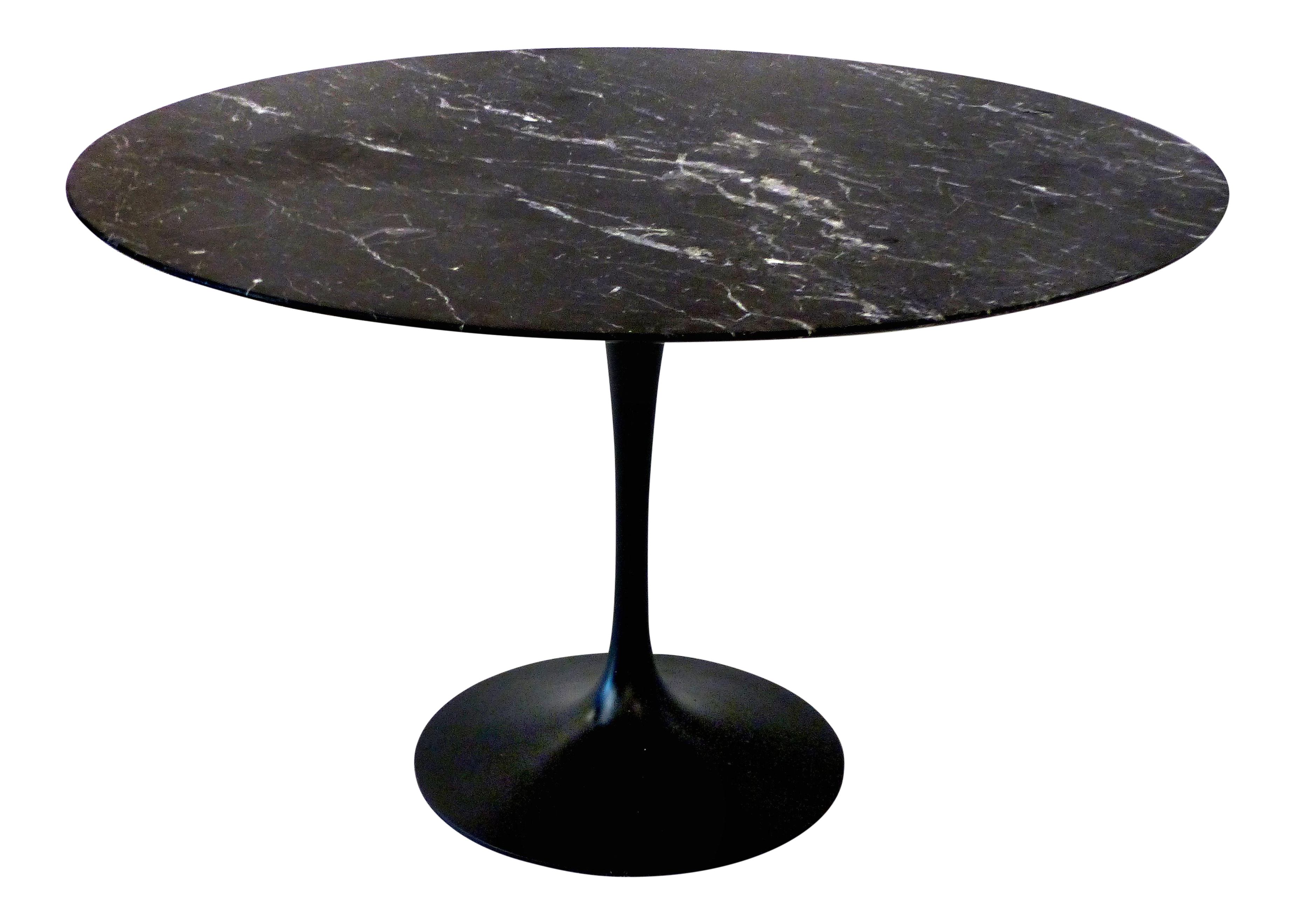 Round Marble Top Tulip Table In The Style Eero Saarinen For Knoll