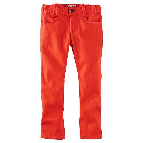 Orange toddler skinny jeans