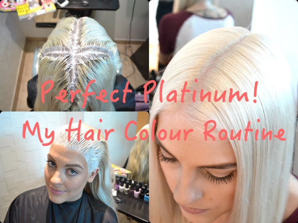 Perfect Platinum My Hair Colour Routine Platinum Blonde Hair