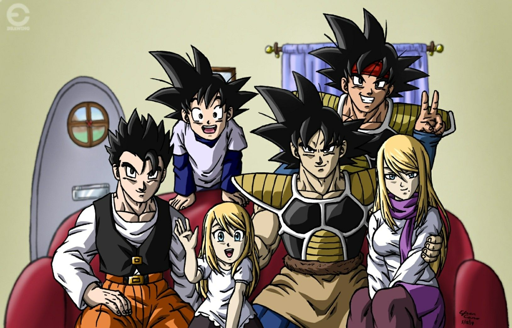 Drawing Kakarot Samus S Family Alternative Universe Kakarot Samus Bardock Jr Gohan Goten Dragon Ball Super Manga Dragon Ball Art Dragon Ball Artwork