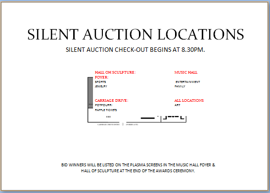 Free Bid Sheet Template Prepossessing Silent Auction Location Display Map  Silent Auction Bid Sheet .