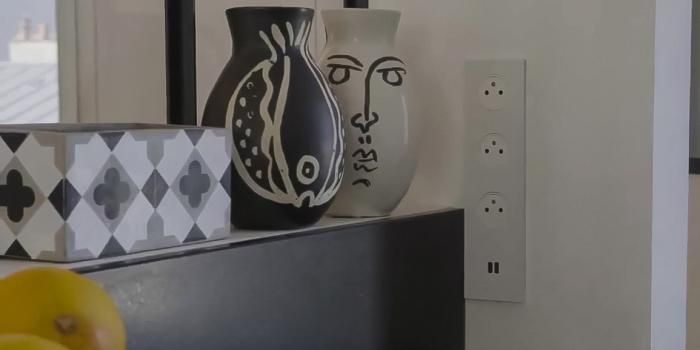 ZOOM sur ART d\u0027Arnould avec sa quadruple prise électrique