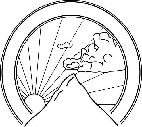Ohio State Seal Sun Coloring Pages Sunrise Drawing Mandala Coloring Pages