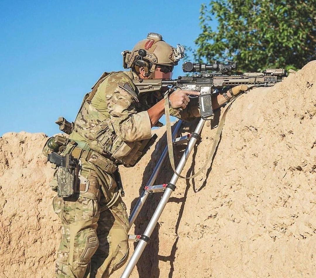 US Army Green Berets during a combat mission in