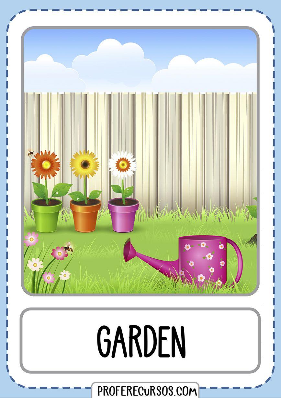 Flashcards House Parts Garden - Profe Recursos | Ingles ...
