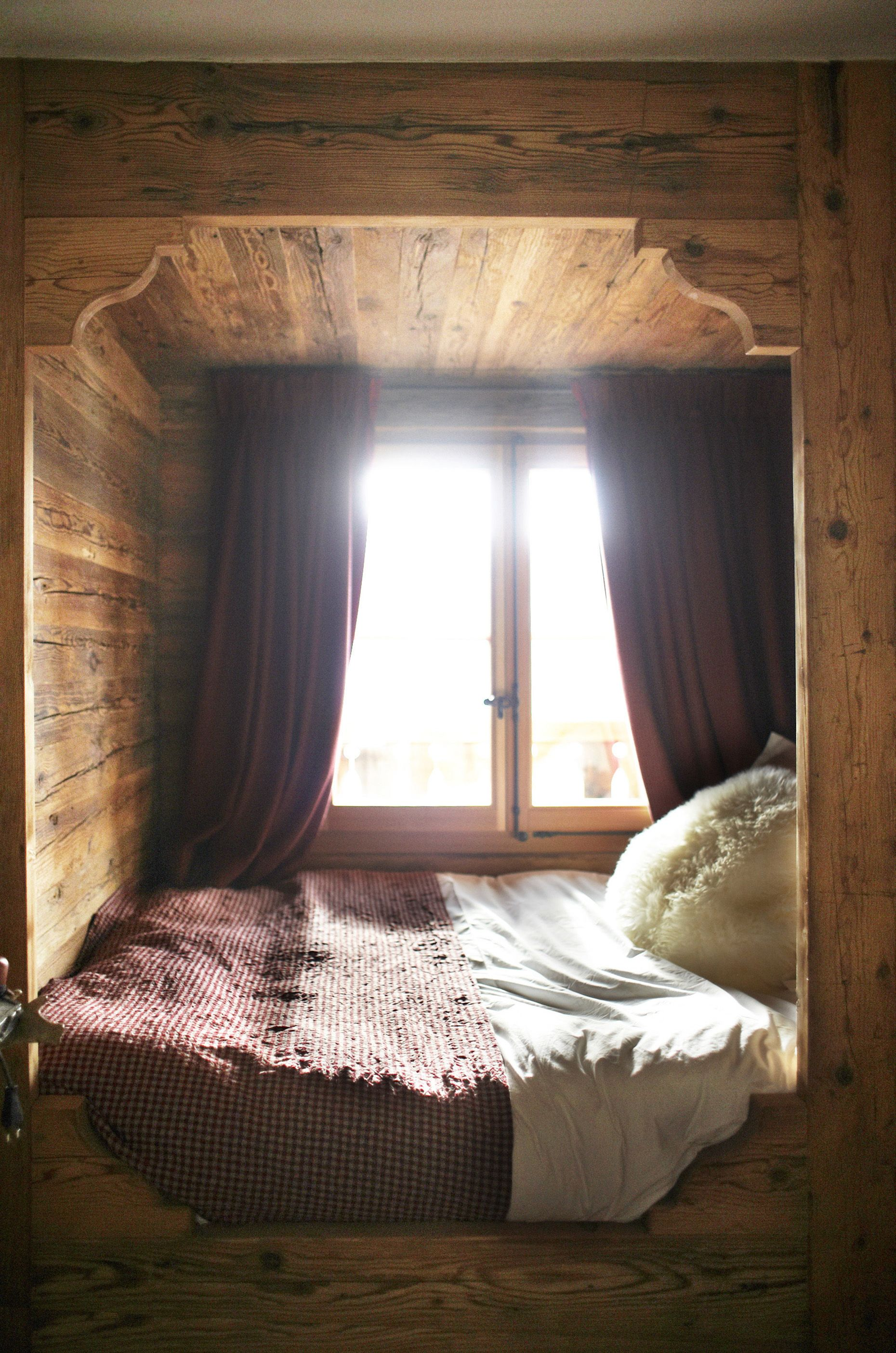 Sweet Wooden Sleeping Nook