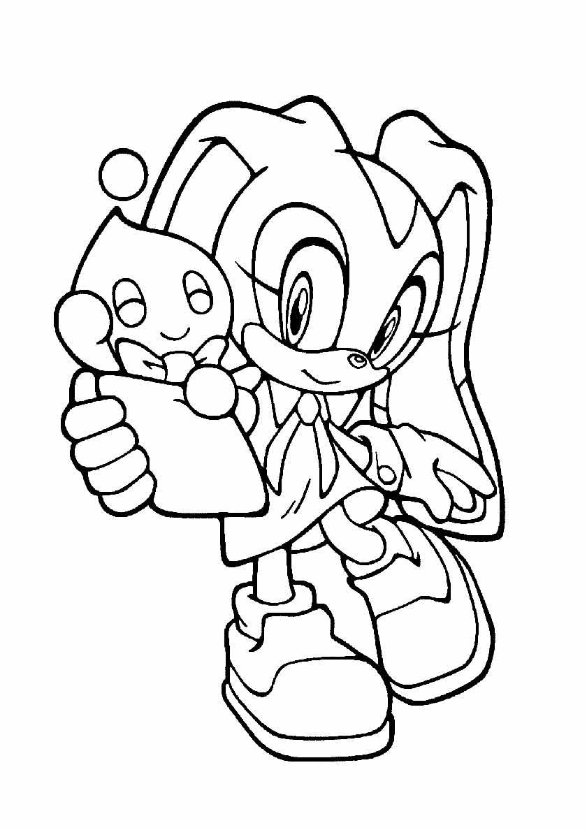 Cream Sonic Free Printable Coloring Page Cute Coloring Pages Free Printable Coloring Pages Coloring Pages