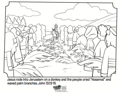Palm Sunday Bible Coloring Pages Bible coloring pages
