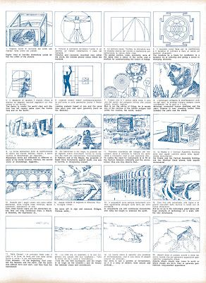 Superstudio Story Board For The Film On The Continuous Monument