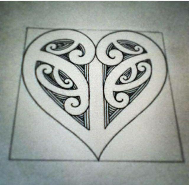 koru heart tattoos pinterest maori maori art and tattoo. Black Bedroom Furniture Sets. Home Design Ideas