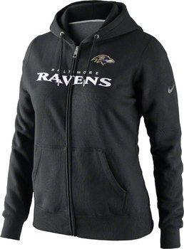 c989f8e79f9 Baltimore Ravens Women's Black Nike Tailgater Fleece Full-Zip Hooded  Sweatshirt $64.99