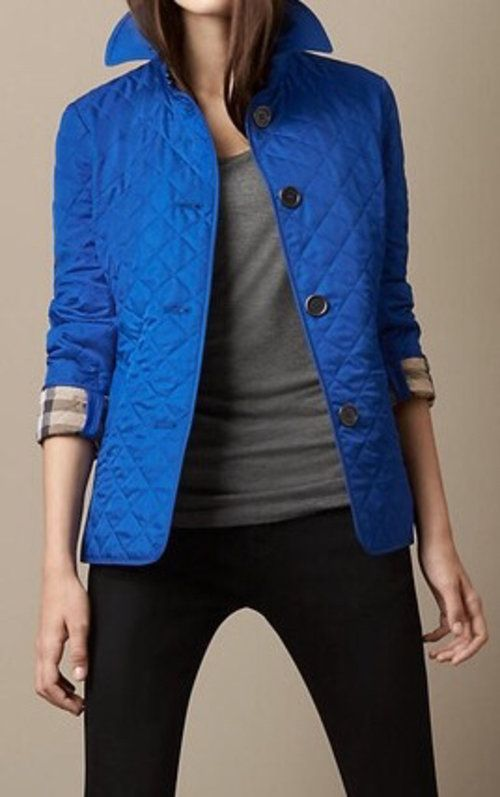 Royal Blue Burberry Quilted Jacket 352 Quilted Jacket Jackets Burberry Quilted Jacket