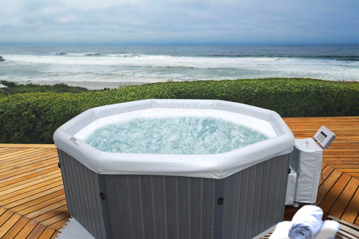 Mspa Tuscany Bubble 6 Person 132 Jet Inflatable Hot Tub Reviews Wayfair Hot Tub Hot Tub Backyard Inflatable Hot Tubs