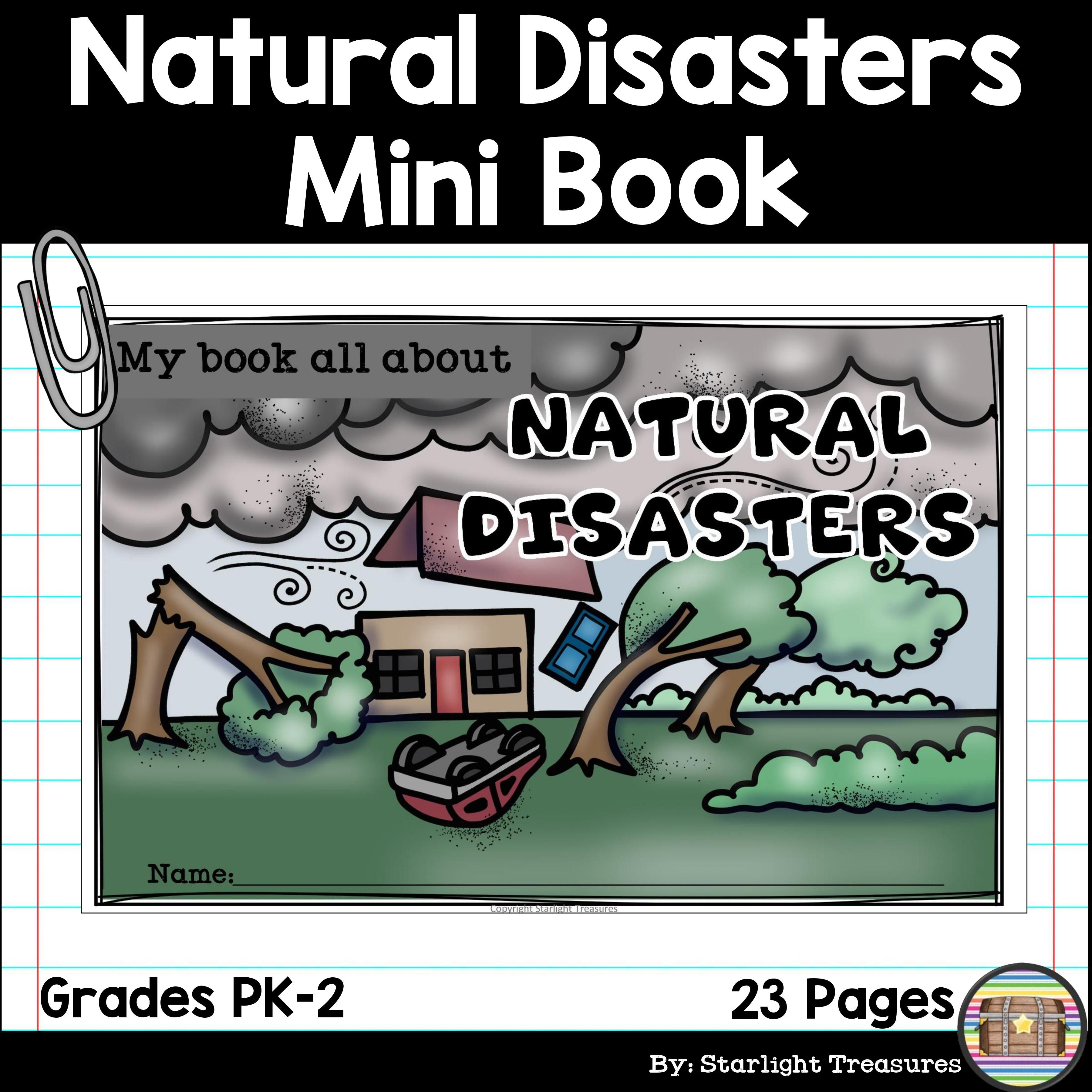 Natural Disasters Mini Book For Early Readers Mini Books Disaster Book Learning Weather [ 3600 x 3600 Pixel ]
