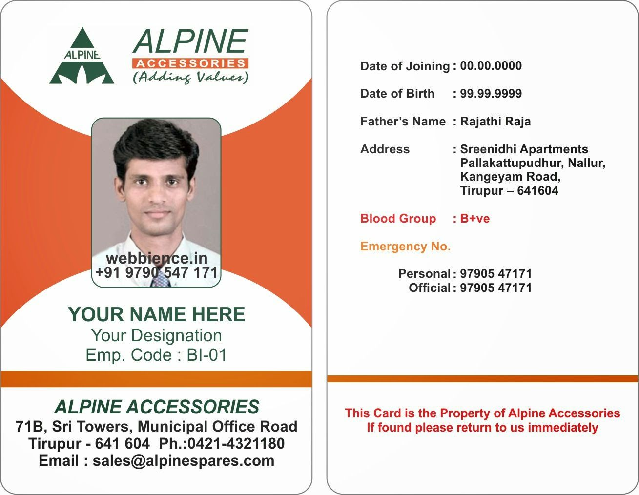 17 Id Badge Template Images Id Badge Template Microsoft Pertaining To Employee Card Template Wo Business Card Template Word Employee Id Card Id Card Template