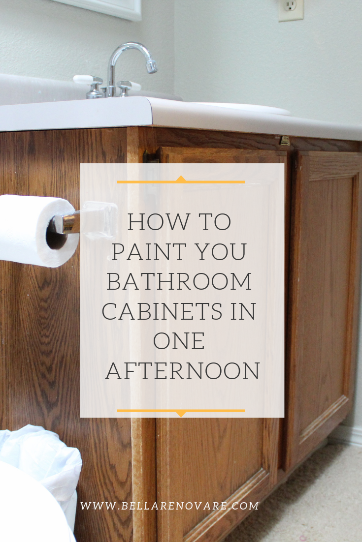 Photo of How To Paint Your Bathroom Cabinets In One Afternoon