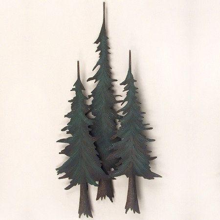 Whispering Pines Metal Wall Sculpture Metal Tree Wall Art Metal