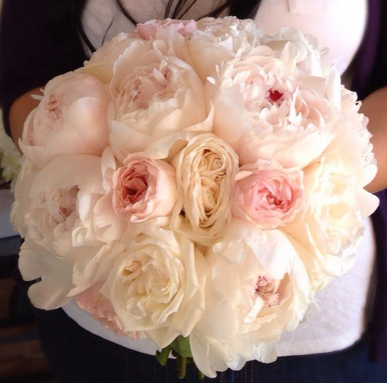 bacara resort peony and garden rose bridal bouquet - Garden Rose And Peony
