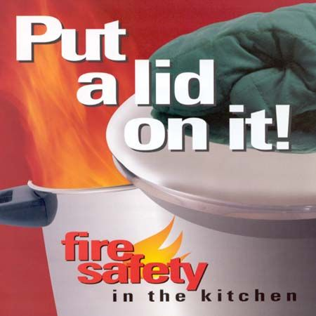 In the event of a stovetop fire put a lid on it it is for 5 kitchen safety tips