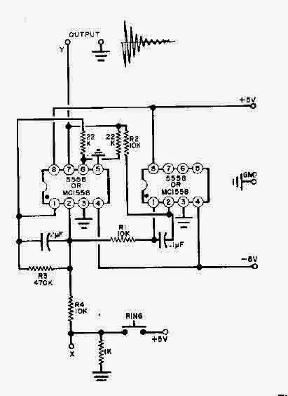 Simple Two 555 Timers Bell Circuit Diagram (With images