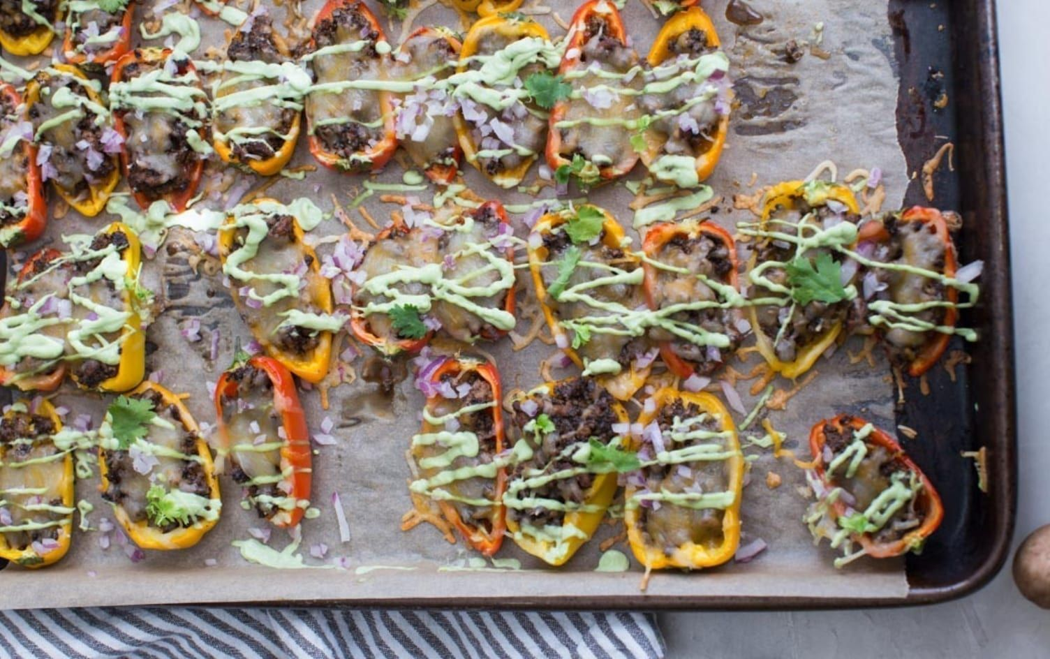 Mini Bell Pepper Nachos #bellpeppers