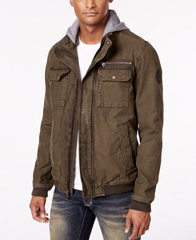 Levi's® Men's Twill Hooded Bomber Jacket | Shops, Bomber jackets ...