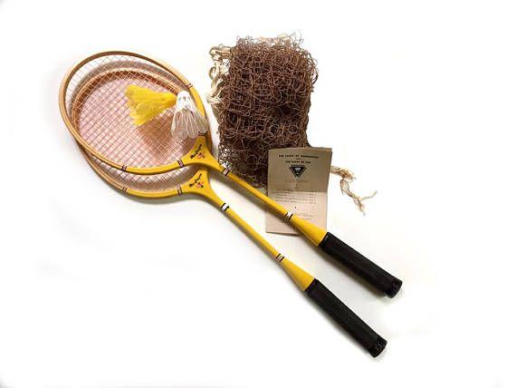 Vintage 1955 Macgregor 2 Player Badminton Set Original Box Net Instructions Shuttlecocks Badminton Set Shuttlecocks Vintage