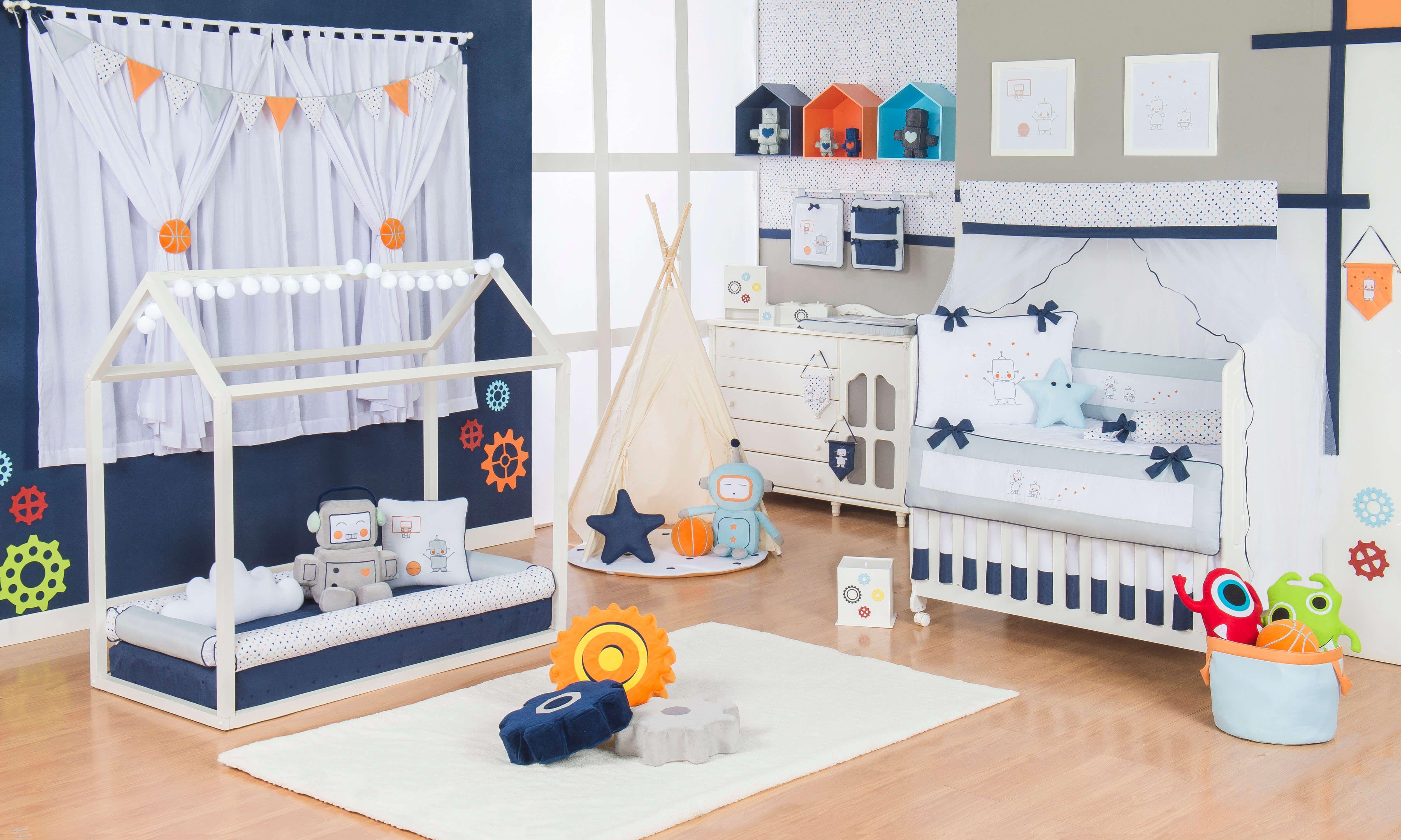 O Quarto De Beb Montessoriano Rob Super Diferente A Proposta  ~ Quarto Infantil Verde Com Quarto Preto E Laranja