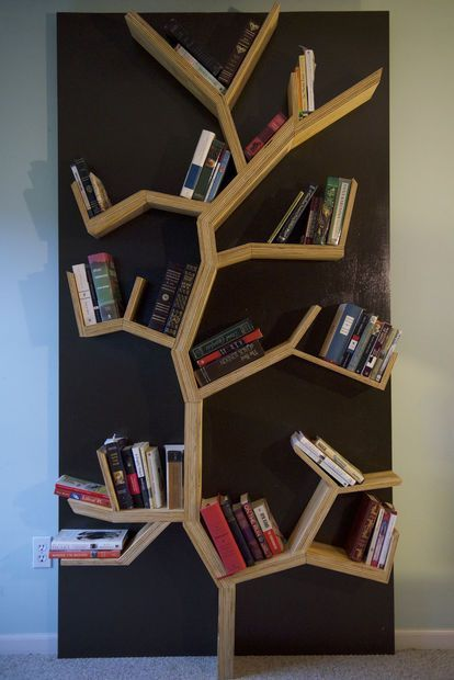 Tree bookshelf diy tree bookshelf for Corner tree bookcase