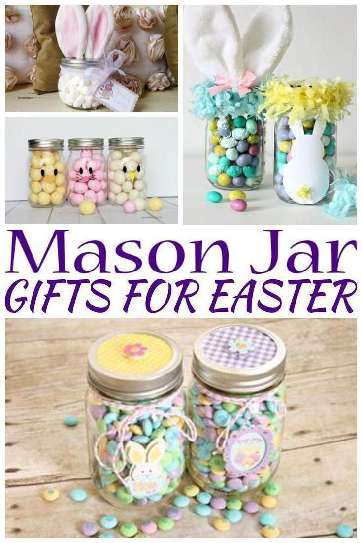 Mason jar gifts for easter easter gift baskets easter and jar easter gifts great easter gift ideas for boys for girls for tweens negle Choice Image