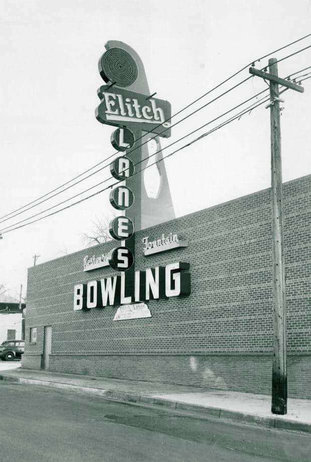 Elitch Bowling 1952 B Colorado Denver Colorado Mile High City