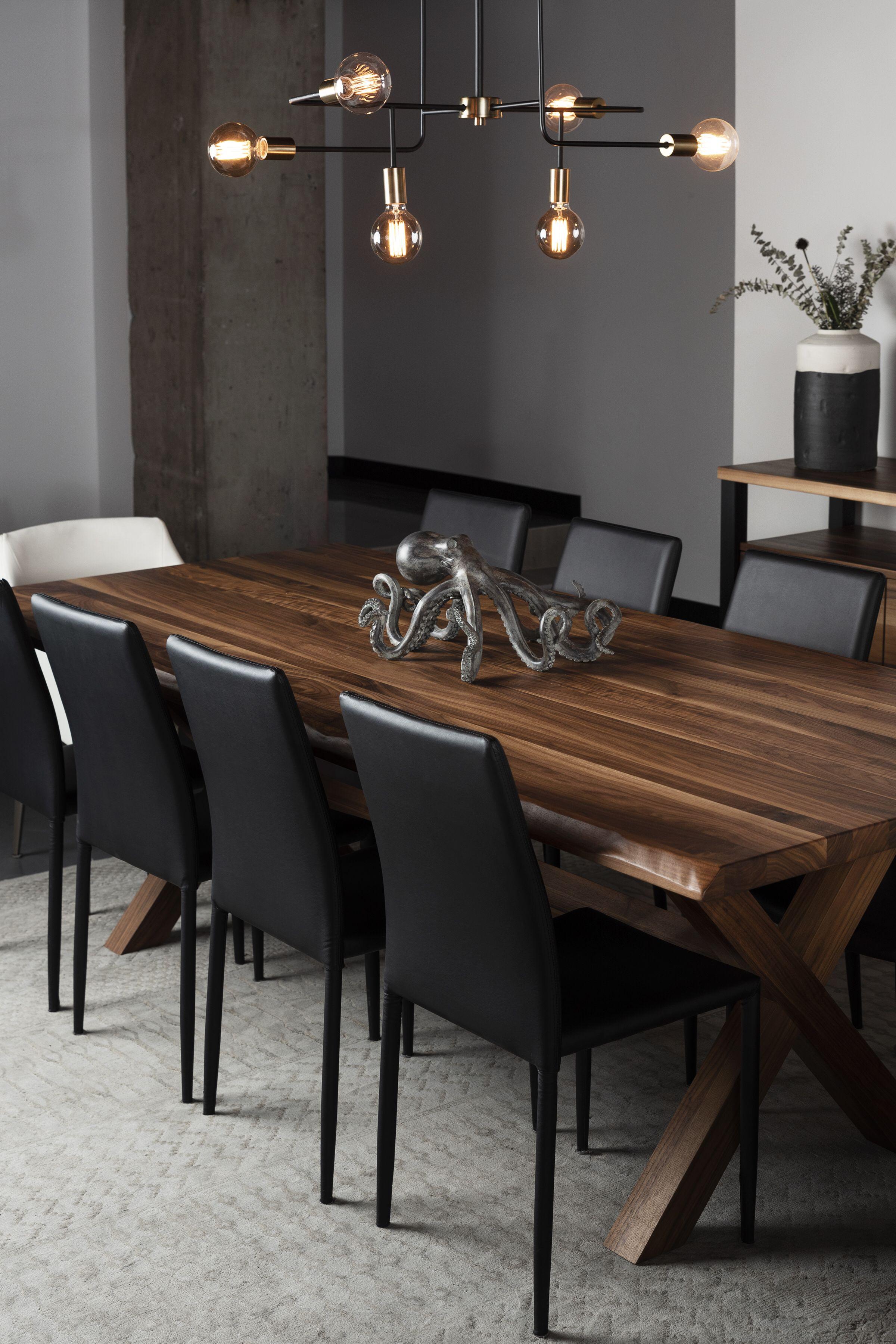 Table Montebello Noyer 96 X 42 2 Epais Grade A