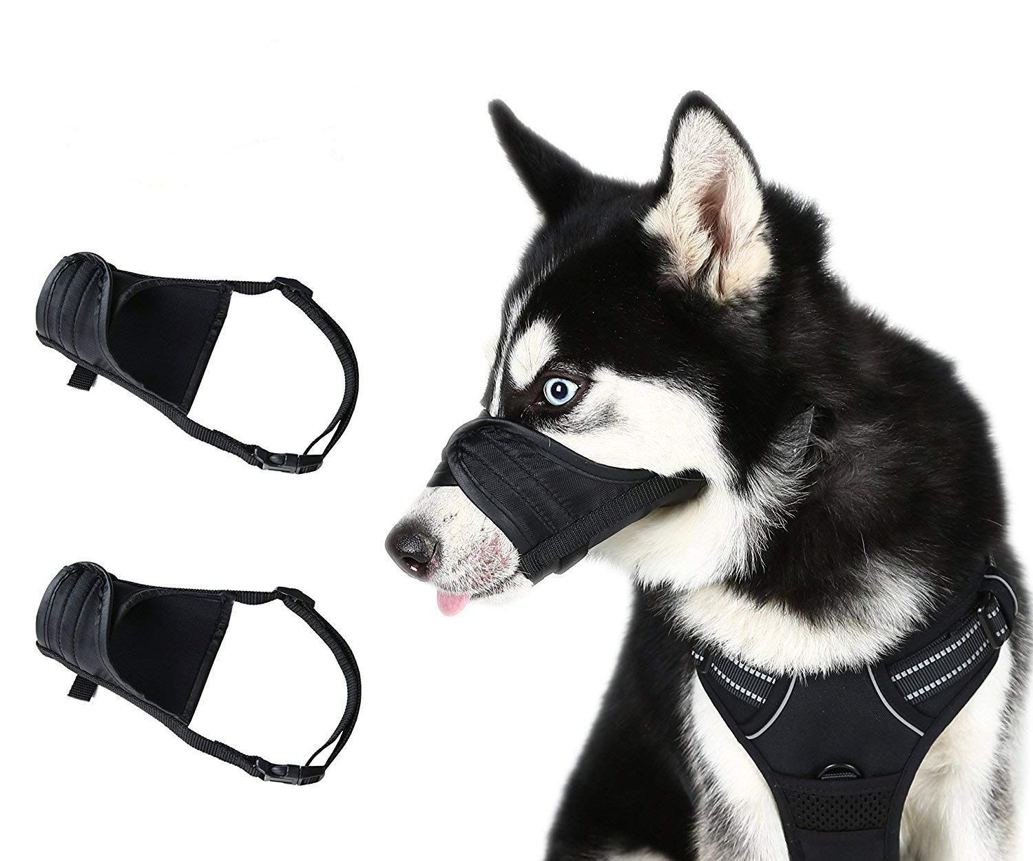 Scenereal Dog Muzzles For Small Medium Large Dogs Adjustable Soft
