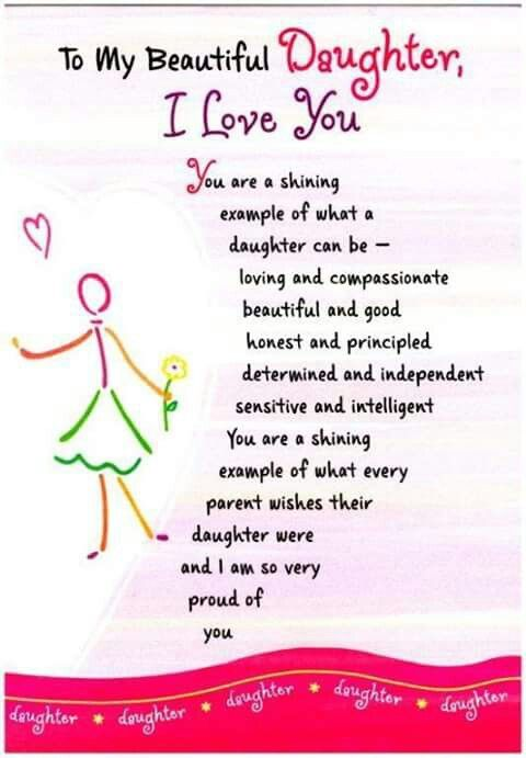Daughter S 9th Birthday Quotes: To My Beautiful Daughter