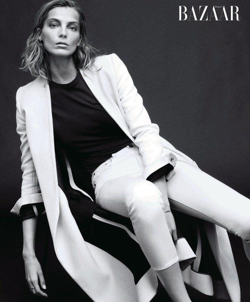Daria Werbowy Covers Harpers Bazaar February 2014, Talks Turning 30