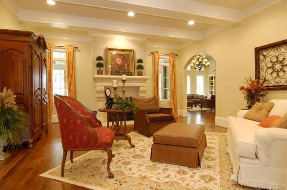 Our previous home\'s living room, wall color is Sherwin Williams ...