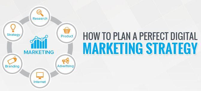 Plan the Perfect Digital Marketing Strategy Social Media Board - digital marketing plan