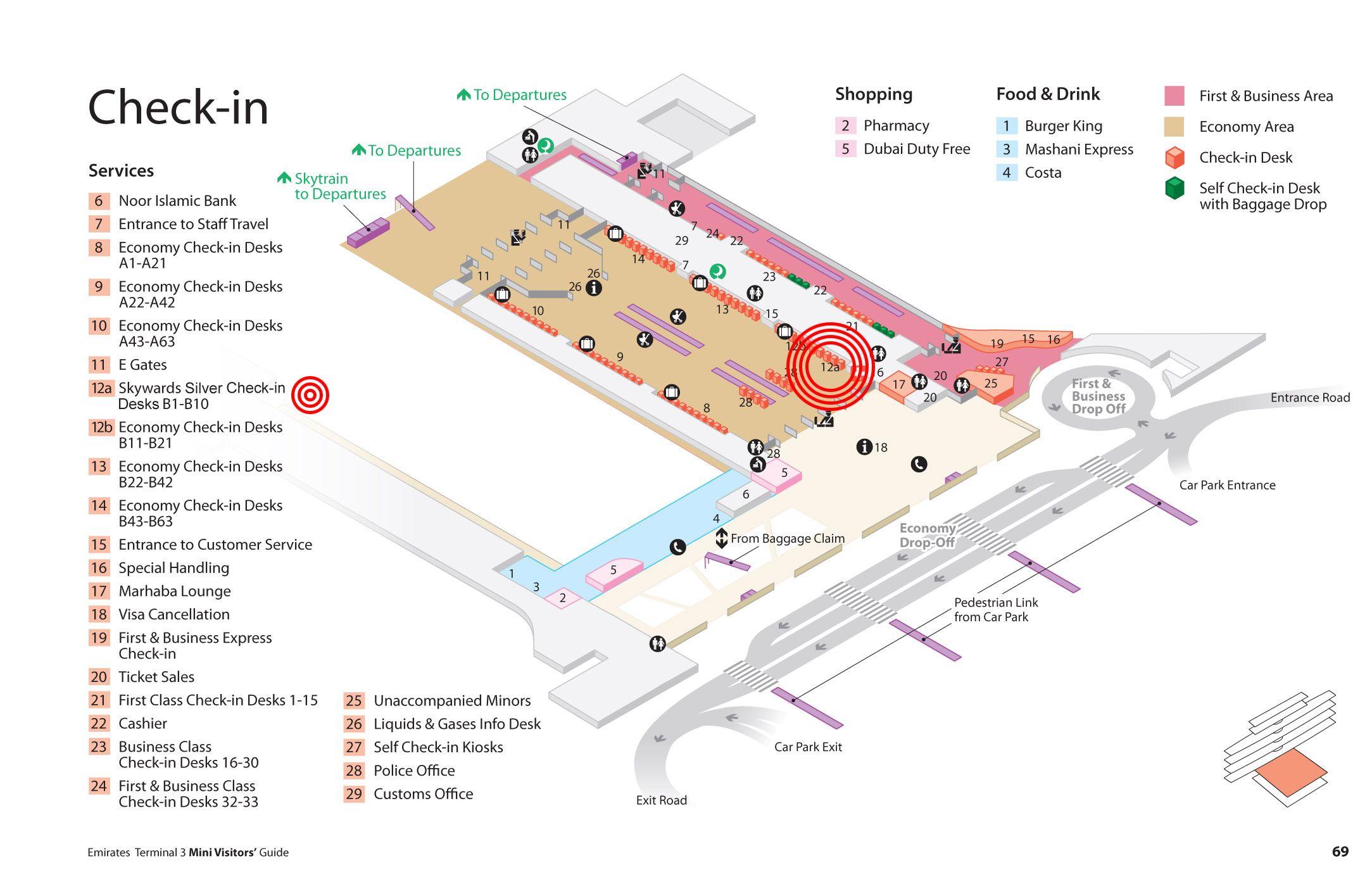 Emirates Terminal 3 Baggage Claim dubai airport map Pinterest