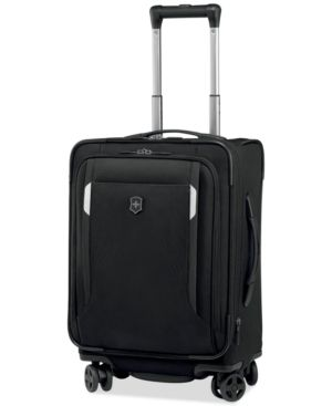 """Victorinox Werks Traveler 5.0 20"""" Carry-On Expandable Dual Caster Spinner Suitcase - Black"""