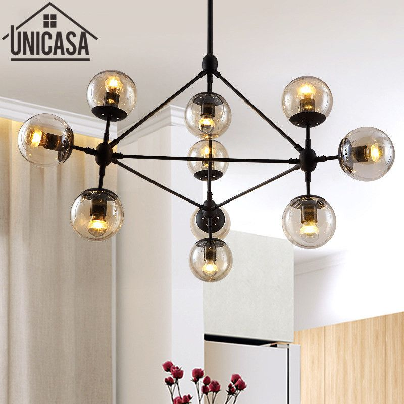 Loft Vintage Ceiling Lamp Modern Large Pendant Light Fixture Lighting Bar Amber Glass I Large Pendant Light Fixtures Large Pendant Lighting Glass Pendant Light