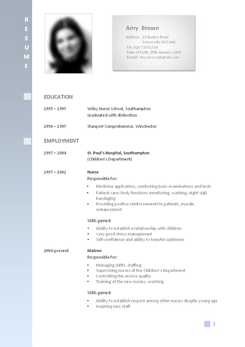Format Of A Cv cv . The Format Of Cv | atif | Pinterest | Cv format
