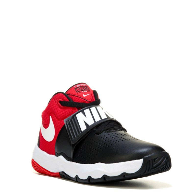 12d8a825a2c2 Nike Kids  Team Hustle D8 Basketball Shoe Grade School Shoes (Black University  Red) - 7.0 M
