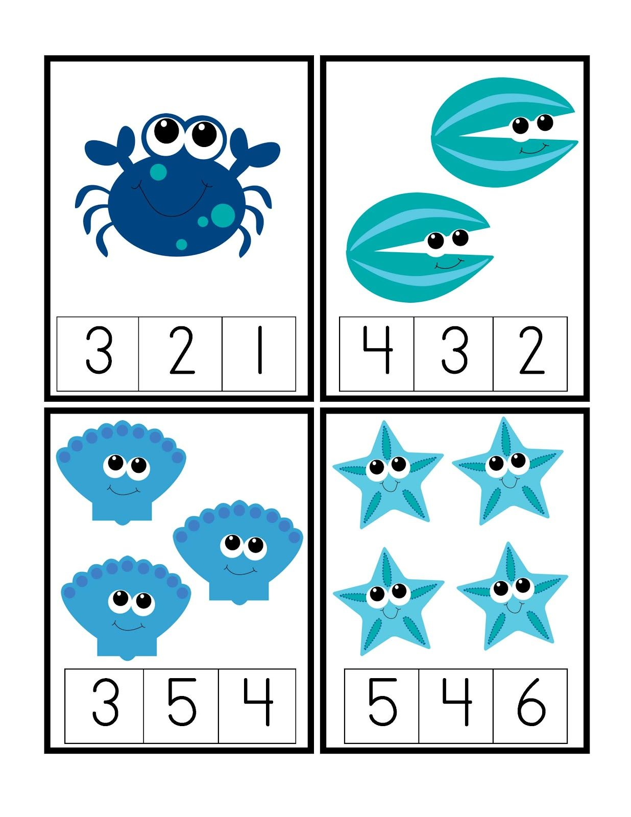 Preschool Printables: Under the Deep Blue Sea Printable https://www ...