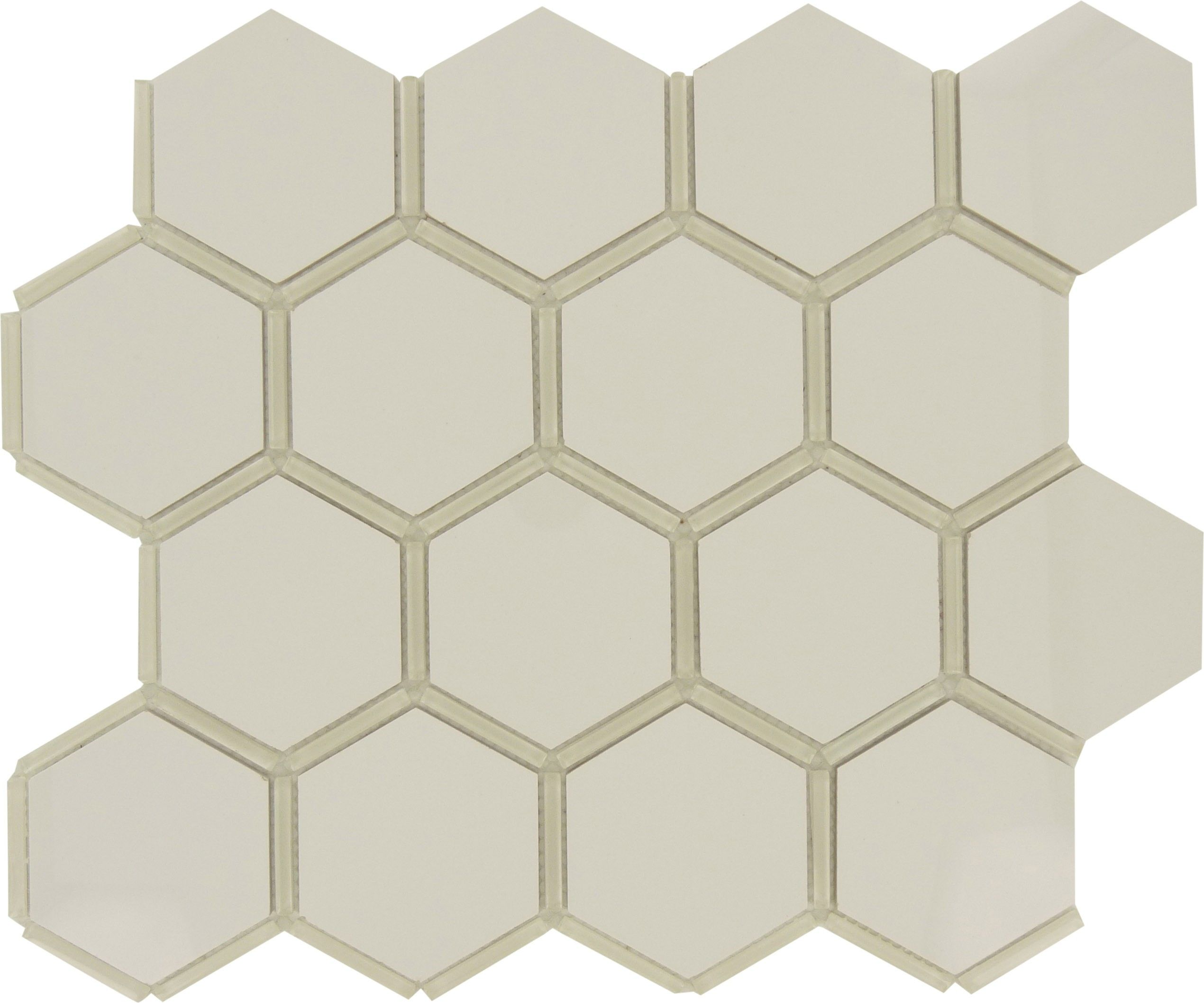 White Glossy And Polished Porcelain Hexagon Tile Hexagon Tiles